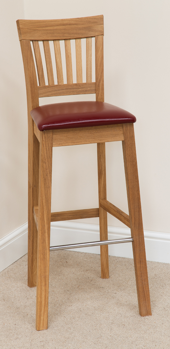 Bar Stool 182, Solid Oak, Beige Fabric - bar stools, bar stool, wooden stools, wooden bar stools, breakfast bar stools, kitchen bar stools