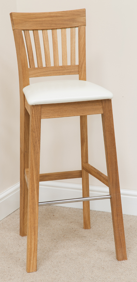 Bar Stool 183 Oak Cream Leather Bar Stools Bar Stool Wooden Stools Woo